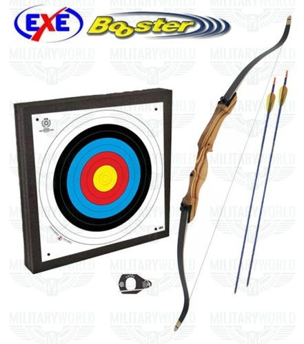 Recurve bow exe in wood 24 lbs - Full archery kit