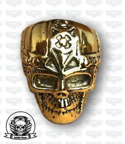 Skull Gold Ring Knight Titanstahl B6yfgyv7 Aus WDH9IEYe2