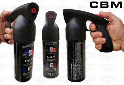 CBM professional anti-aggression spray 500 ml. in gel with pistol grip, instant neutralization