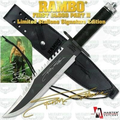 "Rambo II ""First Blood"" knife in carbon steel 1060 with survivor kit"