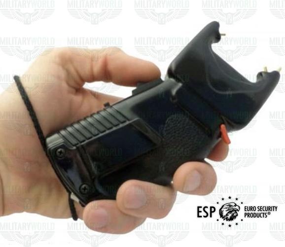 Professioneller Elektroschocker Esp Scorpy 200 2 In 1 Mit Anti Aggressions Spray Und 200000 Volt Stromentladung